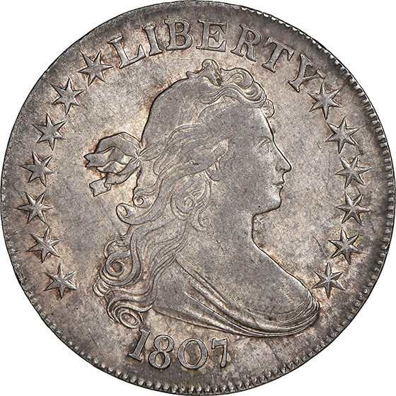 Picture of 1807 DRAPED BUST 50C, DRAPED BUST, LARGE EAGLE MS63