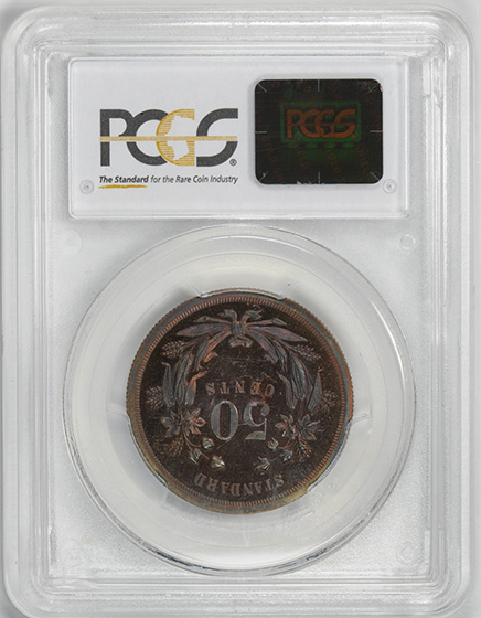Picture of 1870 50C J-929 PR64 Red Brown
