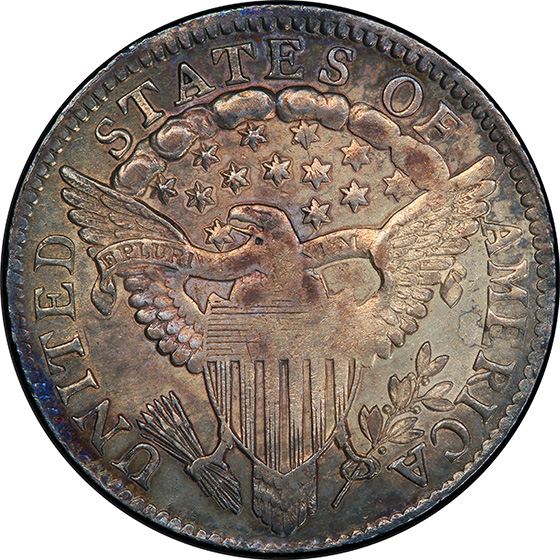 Picture of 1802 DRAPED BUST 10C, LARGE EAGLE MS60