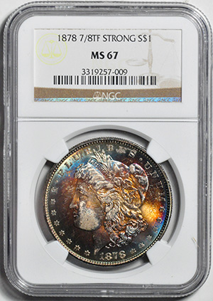 Picture of 1878 7/8TF MORGAN S$1, STRONG MS67