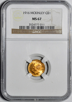 Picture of 1916 GOLD G$1, MCKINLEY MS67