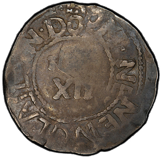 Picture of 1652 WILLOW TREE SHILLING VF35