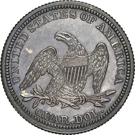 Picture of 1847 LIBERTY SEATED 25C, NO MOTTO PR66