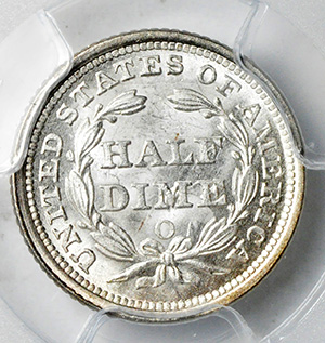 Picture of 1857-O LIBERTY SEATED H10C MS66+