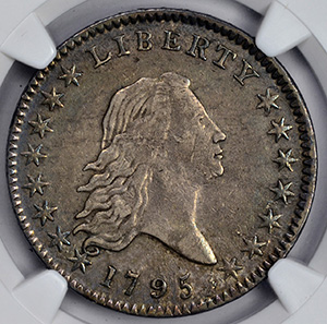 Picture of 1795 FLOWING HAIR 50C, OVERTON 113A A OVER E IN STATES AU55