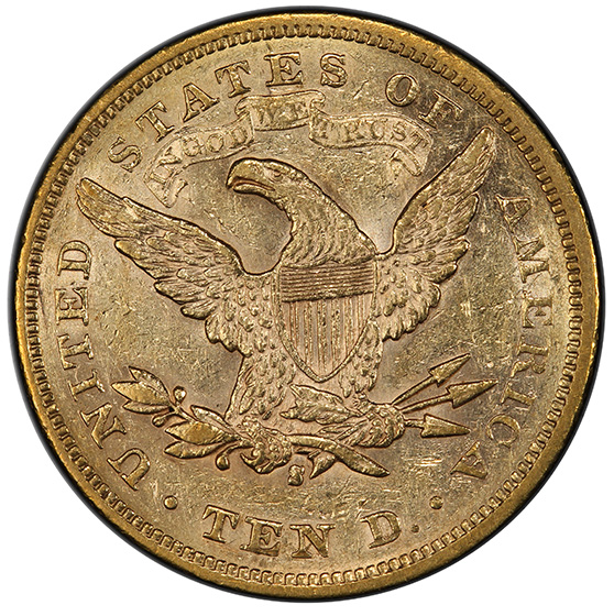Picture of 1877-S LIBERTY $10, MOTTO MS58
