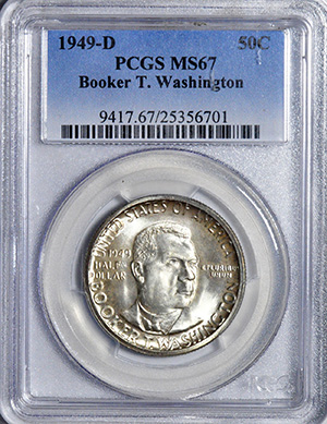 Picture of 1949-D BTW SILVER 50C MS67