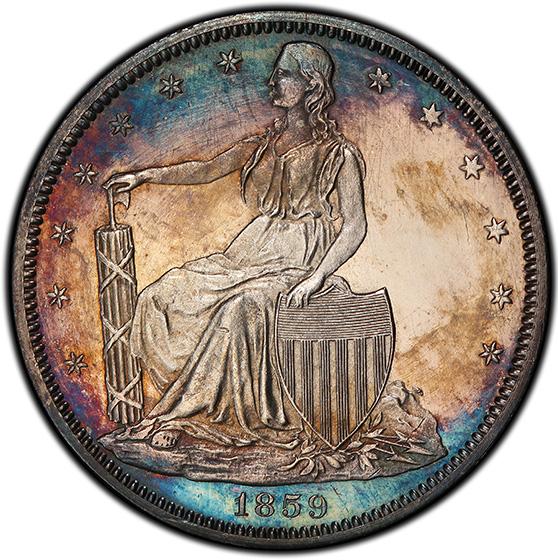 Picture of 1859 PAQUET 50C, J-249 PR63