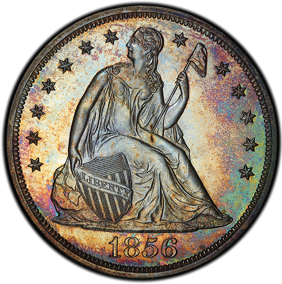 Picture of 1856 LIBERTY SEATED S$1, NO MOTTO PR65