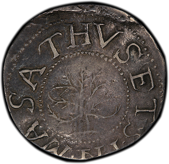 Picture of 1652 OAK TREE SHILLING, OAK TREE, IN AT BOTTOM AU50