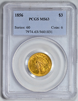 Picture of 1856 INDIAN PRINCESS $3 MS63