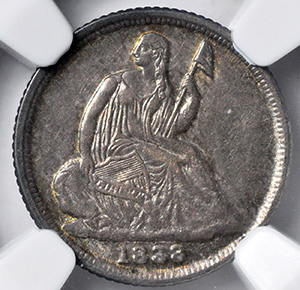 Picture of 1838-O LIBERTY SEATED H10C, NO STARS MS63