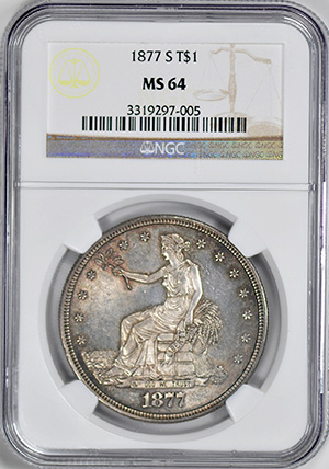 Picture of 1877-S TRADE T$1 MS64