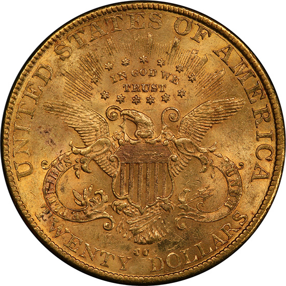 Picture of 1890-CC LIBERTY $20 MS62