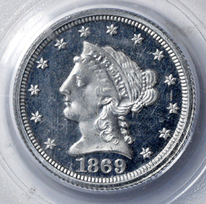 Picture of 1869 $2 1/2 J-770 PR66