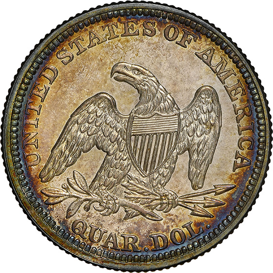 Picture of 1858 LIBERTY SEATED 25C, NO MOTTO PR66