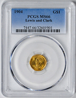 Picture of 1904 GOLD G$1, LEWIS AND CLARK MS66