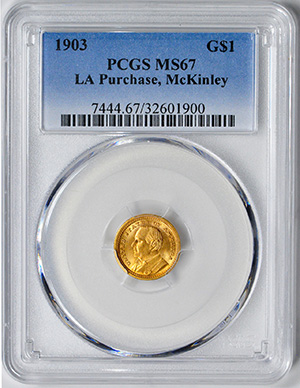 Picture of 1903 GOLD G$1, LA PURCH-MCKINLEY MS67