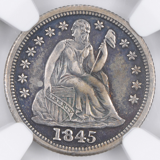 Picture of 1845 LIBERTY SEATED 10C PR65