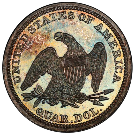 Picture of 1847 LIBERTY SEATED 25C, NO MOTTO PR66+