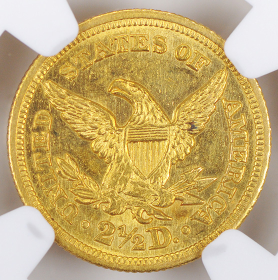 Picture of 1848-C LIBERTY $2 1/2 MS62