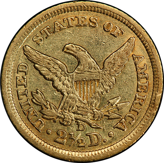 Picture of 1842-D LIBERTY $2 1/2 AU53