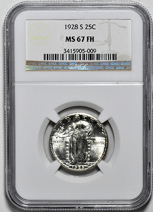 Picture of 1928-S STANDING LIBERTY 25C, TYPE 2 MS67 Full Head