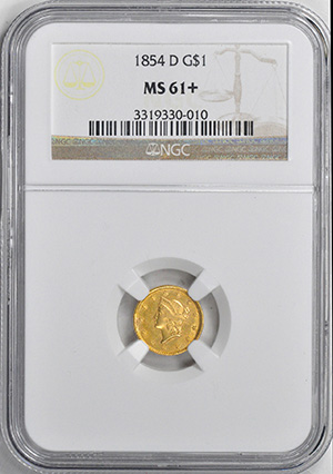 Picture of 1854-D GOLD G$1 MS61+