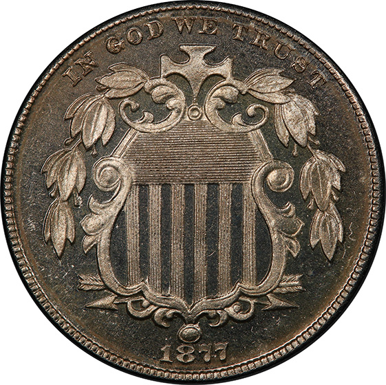 Picture of 1877 SHIELD 5C PR66 Deep Cameo
