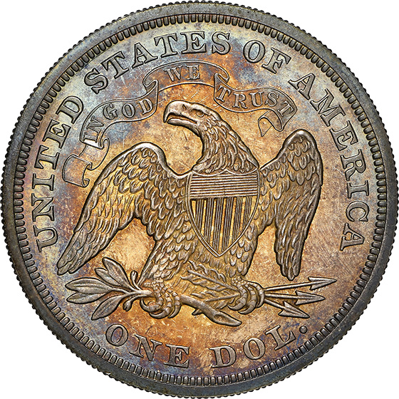Picture of 1871 LIBERTY SEATED S$1, MOTTO PR66