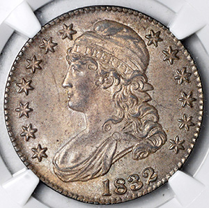 Picture of 1832 CAPPED BUST 50C MS65+