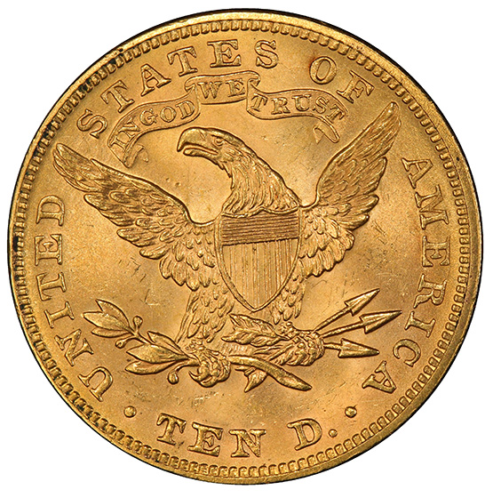 Picture of 1897 LIBERTY $10, MOTTO MS65