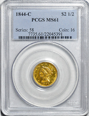 Picture of 1844-C LIBERTY $2 1/2 MS61