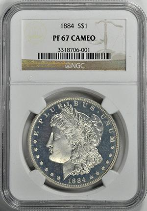 Picture of 1884 MORGAN S$1 PR67 Cameo