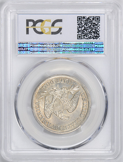 Picture of 1859-S LIBERTY SEATED 50C, NO MOTTO MS64