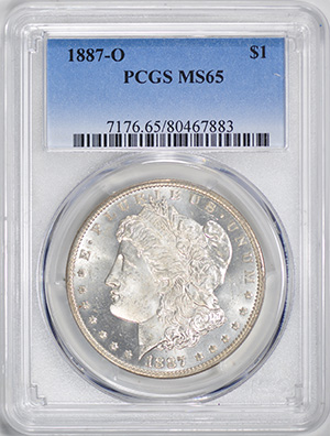 Picture of 1887-O MORGAN S$1 MS65