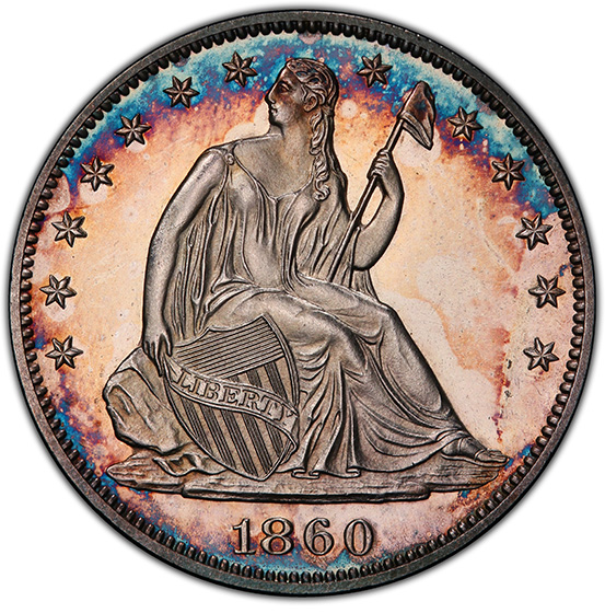 Picture of 1860 LIBERTY SEATED 50C, NO MOTTO PR66 Cameo
