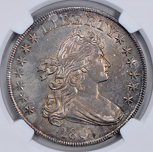 Picture of 1801 BUST $1, LARGE EAGLE MS62