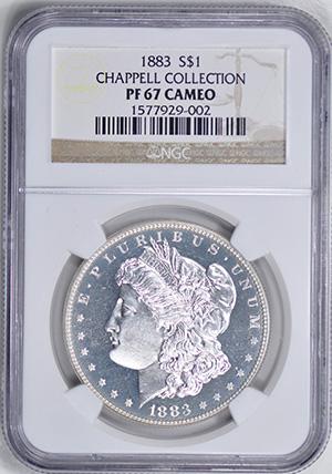 Picture of 1883 MORGAN S$1 PR67 Cameo