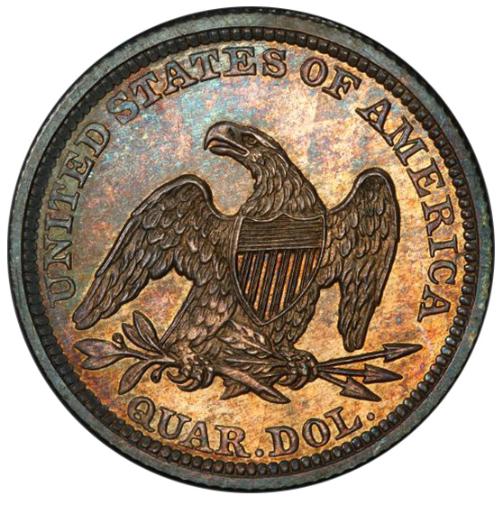 Picture of 1843 LIBERTY SEATED 25C PR64+