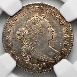 Picture of 1801 DRAPED BUST 10C, LARGE EAGLE MS62