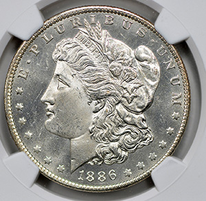 Picture of 1886-O MORGAN S$1 MS64 Proof Like