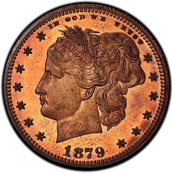 Picture of 1879 25C J-1591 PR66 Red Brown
