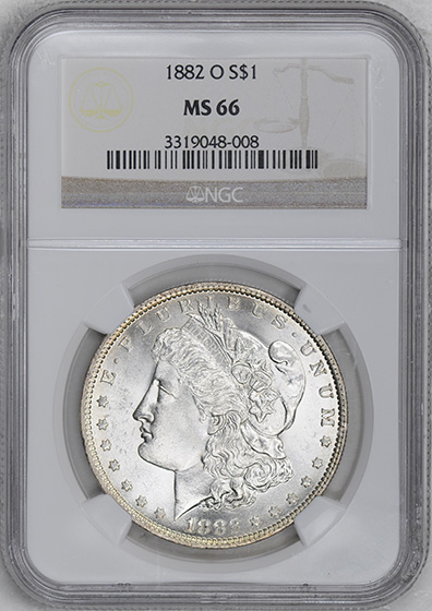 Picture of 1882-O MORGAN S$1 MS66