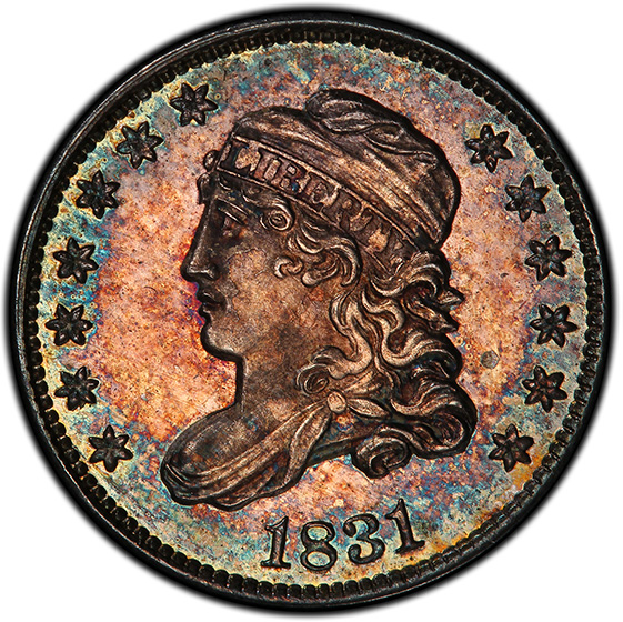 Picture of 1831 CAPPED BUST H10C MS67