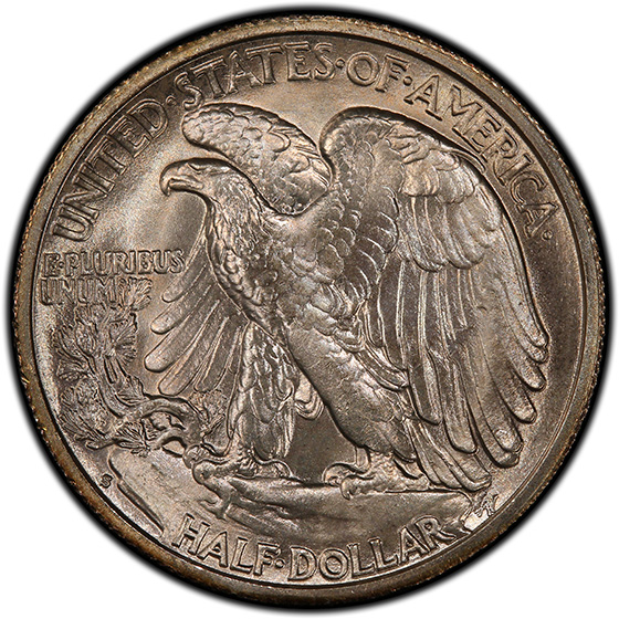 Picture of 1942-S WALKING LIBERTY 50C MS67