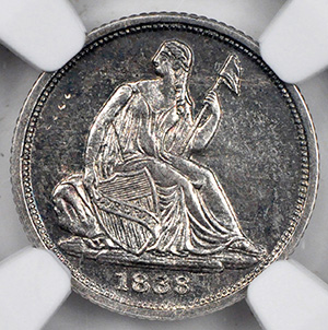 Picture of 1838-O LIBERTY SEATED H10C, NO STARS MS62