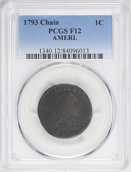Picture of 1793 1793 CHAIN 1C, AMERI. MS12 Brown