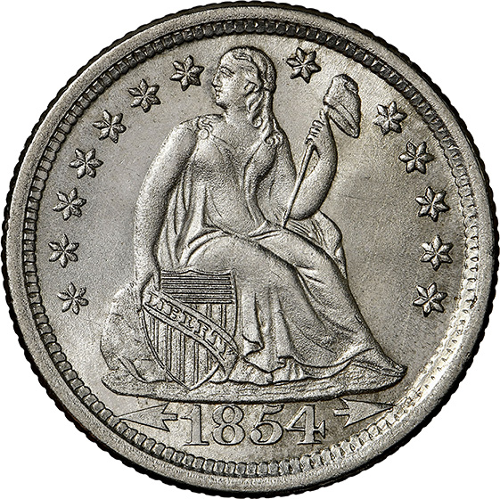 Picture of 1854-O LIBERTY SEATED 10C, ARROWS MS67