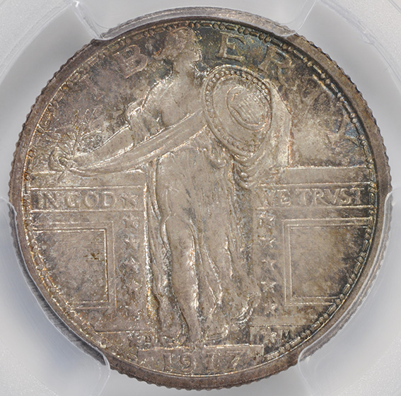Picture of 1917-D STANDING LIBERTY 25C, TYPE 1 MS67 Full Head
